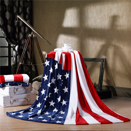American Flag Soft Fleece Blanket