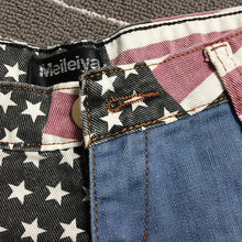 Load image into Gallery viewer, Denim Mini Shorts for Women - USA Flag Print