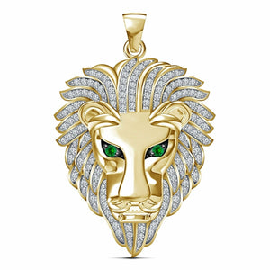 Green Eyed MAGA Lion Bling Necklace