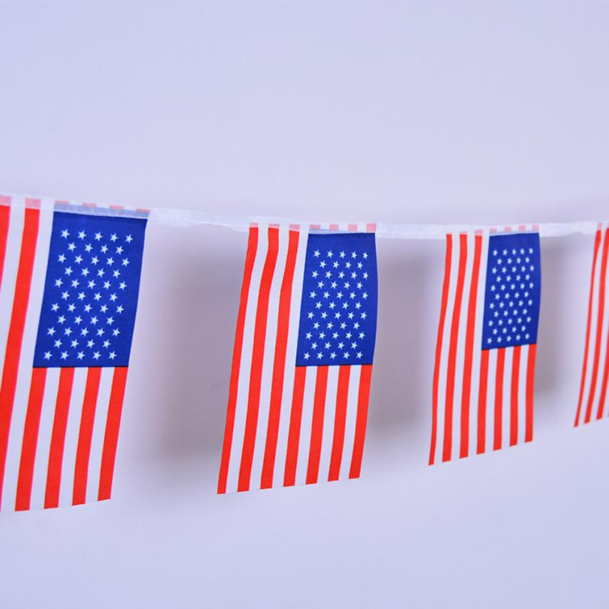 20Pcs/Set String USA Flags