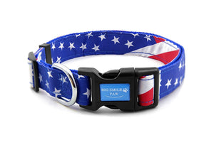 Quick Release Dog Collar American Flag Theme