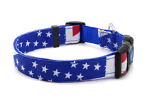 Load image into Gallery viewer, Quick Release Dog Collar American Flag Theme