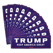 Load image into Gallery viewer, Trump Keep America Great 2020 Bumper Stickers -- 3 or 10 Count