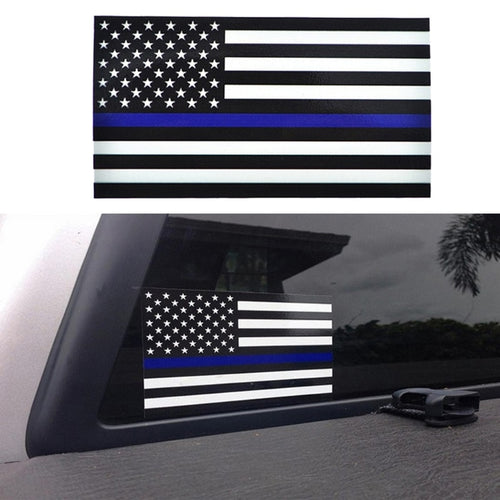 Police Officer Blue Line American Flag Sticker