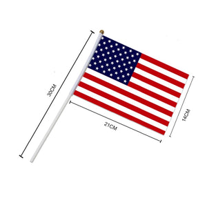 5 piece American Hand Held Mini Flags
