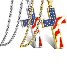 Load image into Gallery viewer, USA Flag Cross Pendants