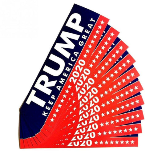 10 Piece TRUMP Bumper Stickers Keep America Great