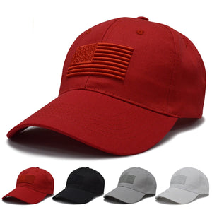 USA Flag Hats - Many Solid Colors - Adjustable Caps