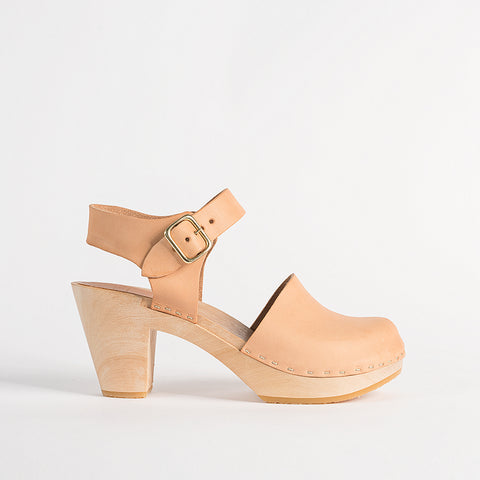 Emma Closed Toe, Natural leather