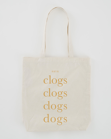 Clogs & Dogs Tote - Natural-In stock