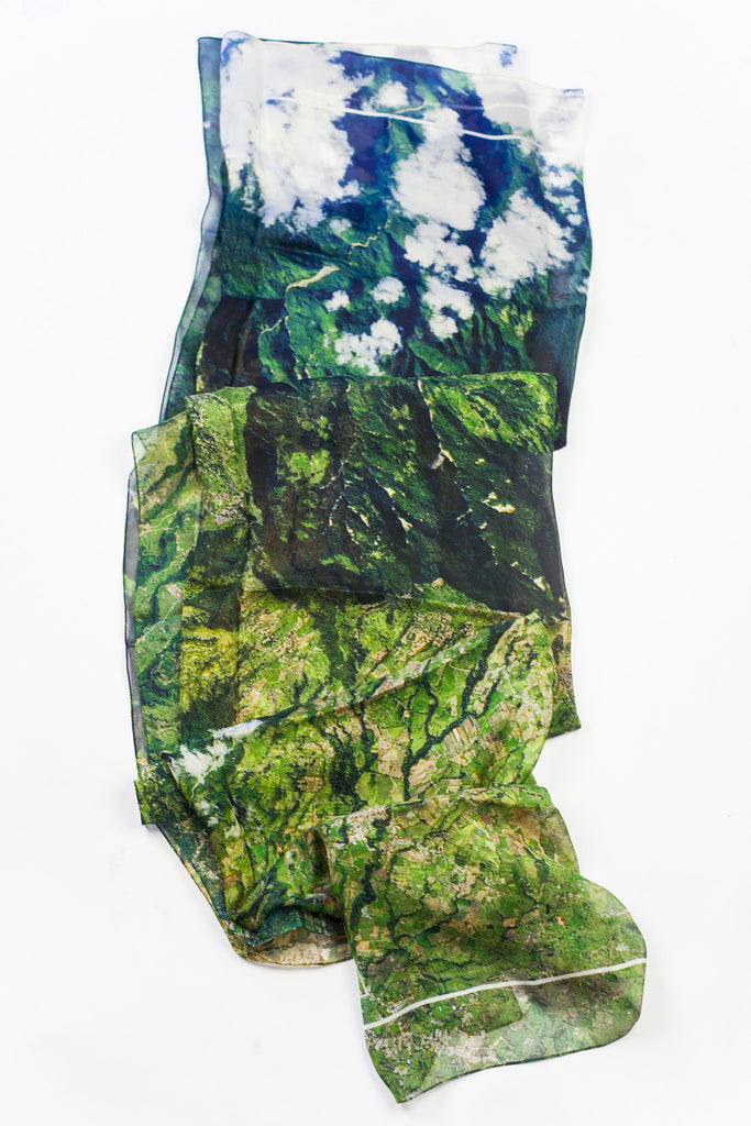 Turrialba Volcano - Large Silk Scarf