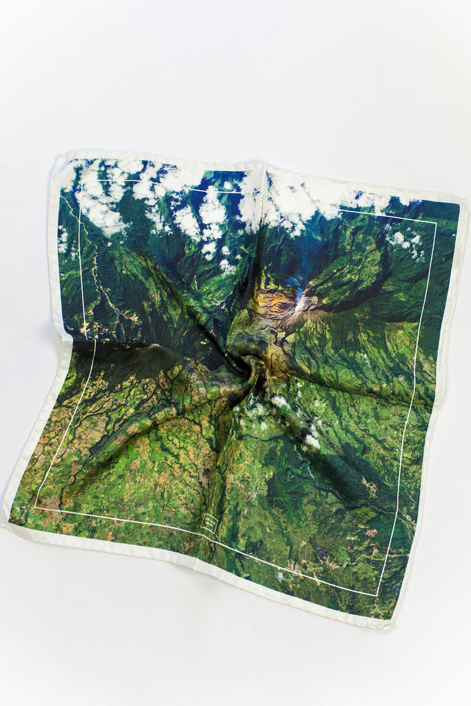 Turrialba Volcano - Medium Silk Scarf