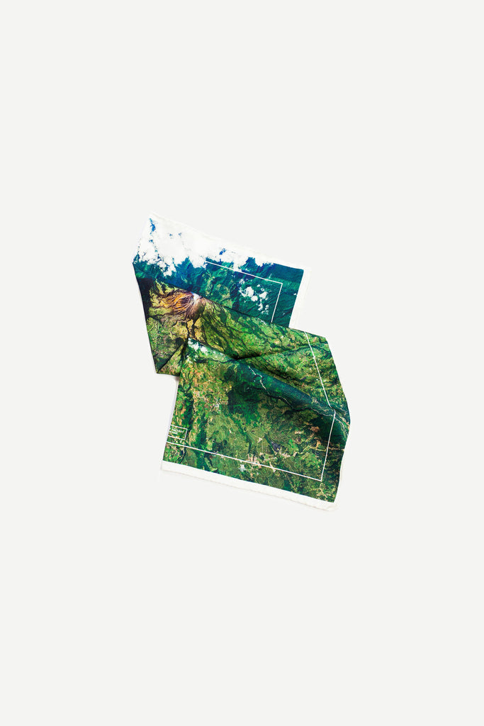 Turrialba Volcano - Pocket Silk Scarf