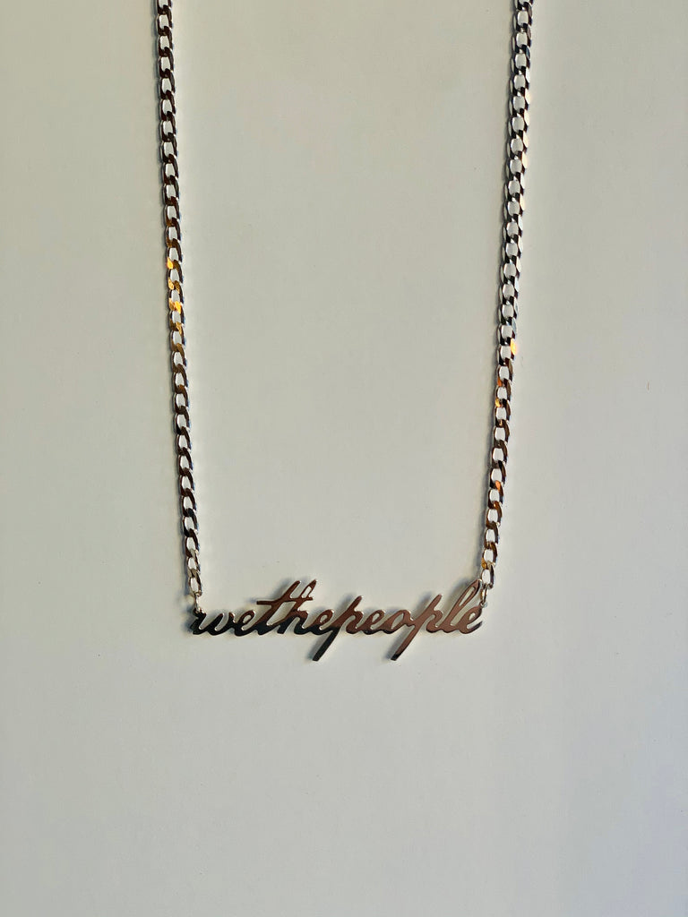 We The People Necklace — Silver