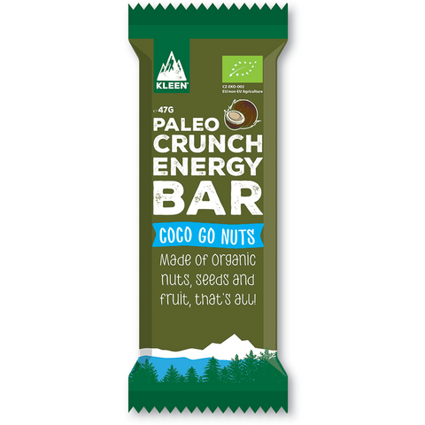 KLEEN Paleo Crunch Energy Bar Coco Go Nuts (Låda med 12bars)