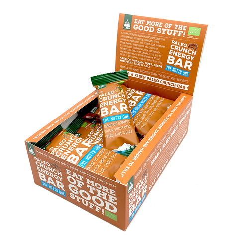 KLEEN Paleo Crunch Energy Bar The Nutty One (Låda med 12bars)