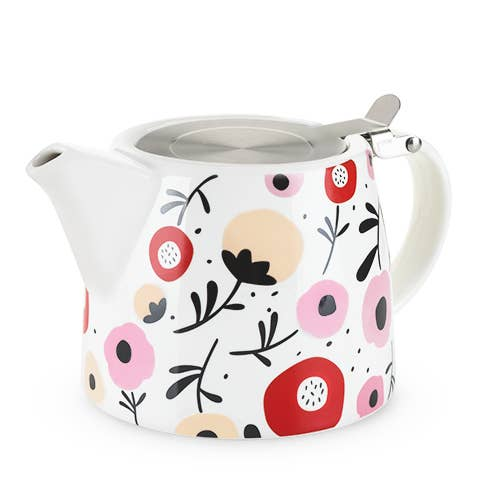 Harper™ Ceramic Teapot & Infuser in Posy Pattern by Pinky Up
