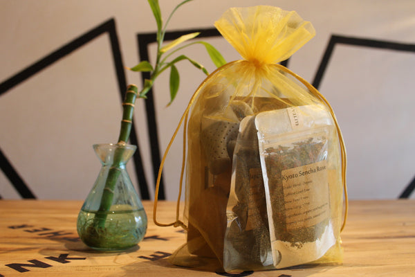5 Tea Sampler Gift Bag With Tea Man Infuser