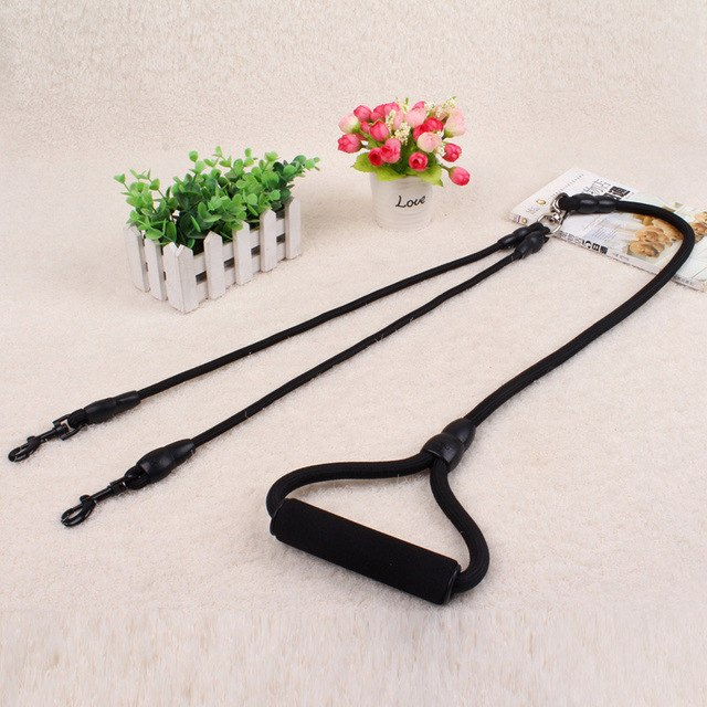 High Quality Nylon Dual Dogs Leash