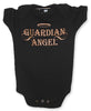 Black Baby Onesie - Guardian Angel