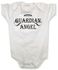 White Baby Onesie - Guardian Angel
