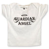 White Baby Tee Shirt - Guardian Angel