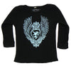 Black Baby Thermal - Blue Medallion