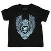 Black Toddler Shirt - Blue Medallion
