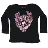 Black Baby Thermal - Pink Medallion