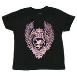 Black Toddler Shirt - Pink Medallion