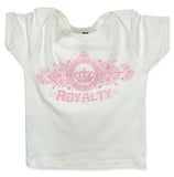 White Baby Tee Shirt - Pink Royalty