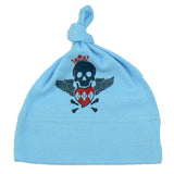 Blue Infant Baby Hat - Blue Skull