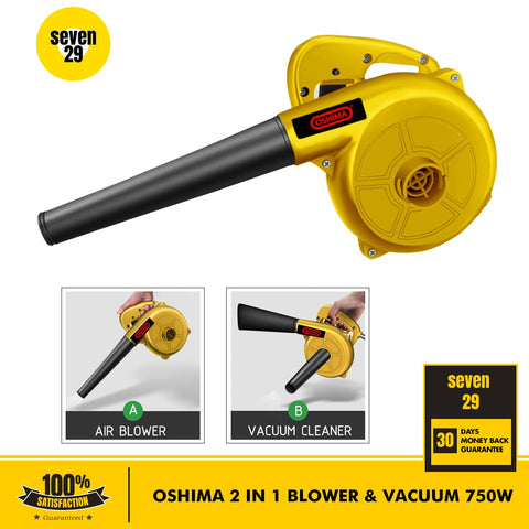 Oshima Japan 2-in-1 750W Multipurpose Blower and Vacuum