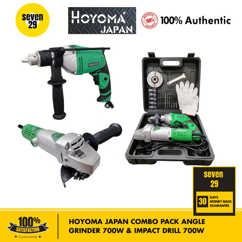 HOYOMA JAPAN COMBO PACK Angle Grinder 700W & Impact Drill 700W - seven29shop
