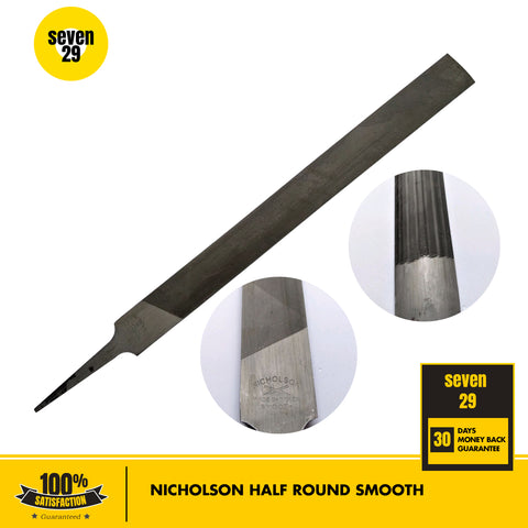 "Nicholson 10"" Half Round Smooth - seven29shop"