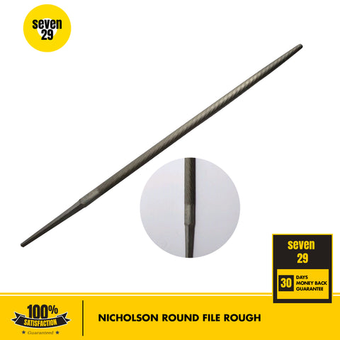 "Nicholson 10"" Round File Rough - seven29shop"