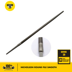 "Nicholson 10"" Round File Smooth - seven29shop"