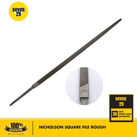 "Nicholson 10"" Square File Rough - seven29shop"