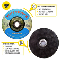 Tailin Flexible Disc 100 x 2 x 16mm WA80 (For Stainless Steel) - seven29shop