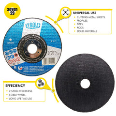Original Tyrolit Cutting Disc 100 x 2.5 x 16mm - seven29shop