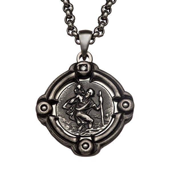 TITAN / St. Christopher medal / 24mm
