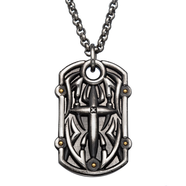 tribal cross dog tag