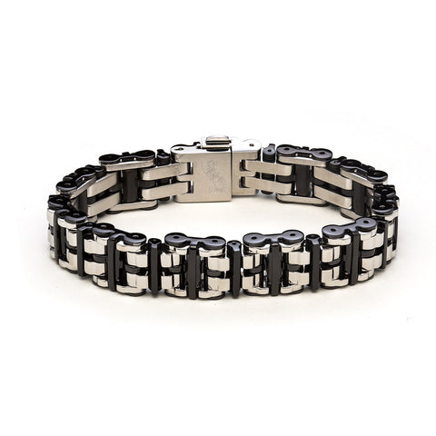 BROOKLYN bracelet / 14mm / two-tone