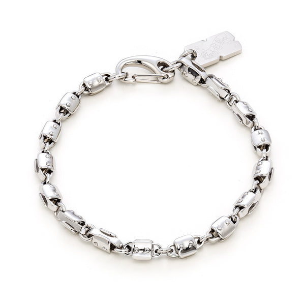 GRAND ARMY chain link bracelet  / 8mm / 9""