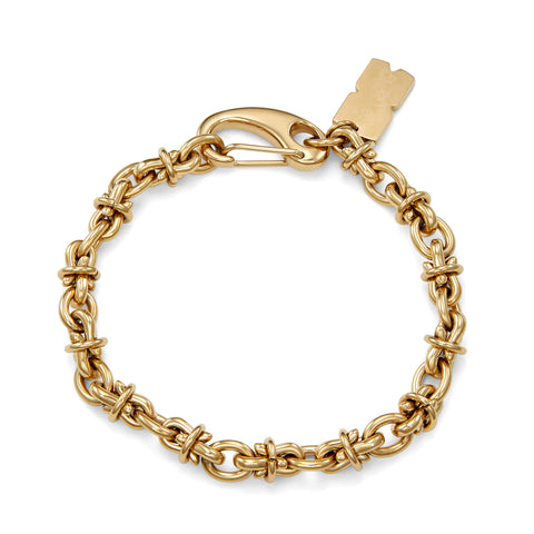 yellow gold mens bracelet chain