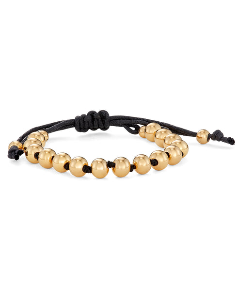 adjustable gold bead bracelet