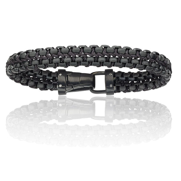 blacked out mens bracelet