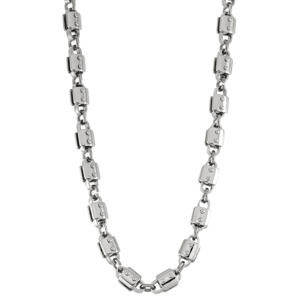 GRAND ARMY chain link necklace  / 8mm / 24""