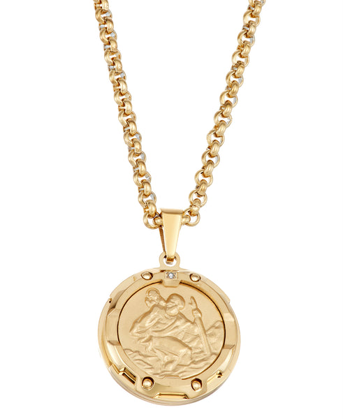 Very cool gold saint christopher medal