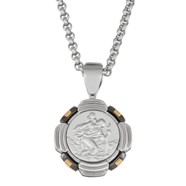 RADIUS / St. Christopher / medal / tri tone / new